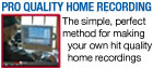 Easy Home Recording Blueprint