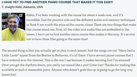 piano course review 1