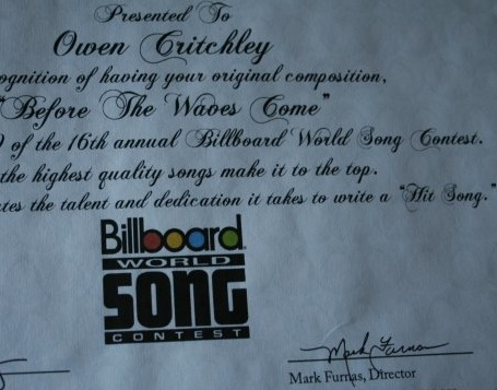 Billboard song contest