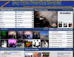 Featured Music recorded using the Easy Home Recording Blueprint Method