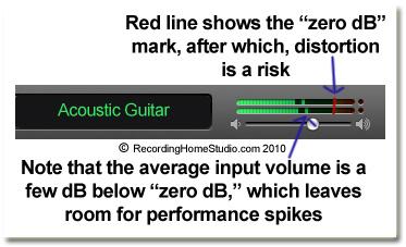 tips home recording input volume